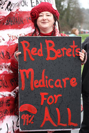 Laura-Felding-Red-Berets-Medicare-for-all