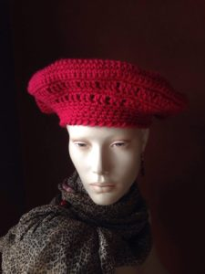 Beret knitted by Cynthia Miskura of Grand Rapids, MI